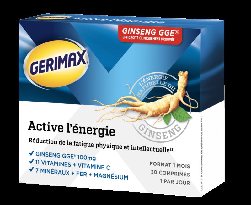 produit Gerimax Active l'énergie