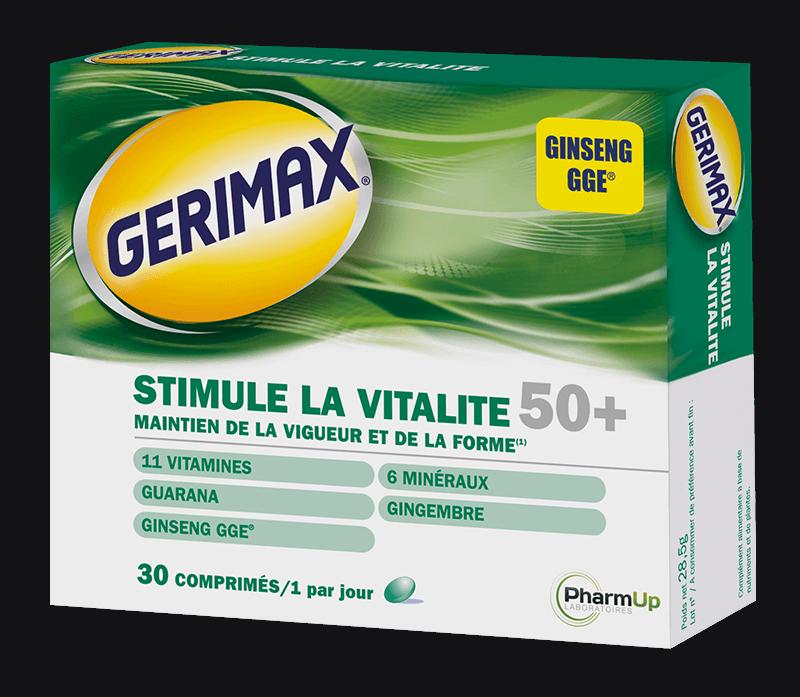 produit Gerimax Stimule la vitalité 50 ans et plus